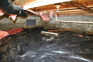 Crawl Space Repair Before in Savannah