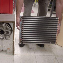 A crawl space cold coil comparison