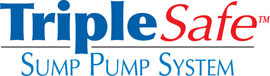 Sump pump system logo for our TripleSafe™, available in areas like Millen