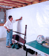 Plastic 20-mil vapor barrier for dirt basements, Saint Marys, Georgia and South Carolina installation