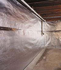 Radiant heat barrier and vapor barrier for finished basement walls in Saint Marys, Georgia and South Carolina