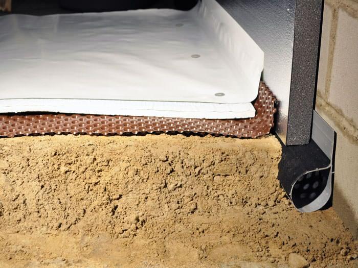 Crawl E Encapsulation System With Drainage Matting For Flooded Es Warner Robins Insulation
