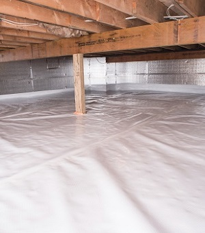 Installed Crawl E Insulation In Griffin