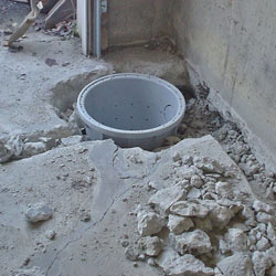 Placing a sump pit in a Pooler home