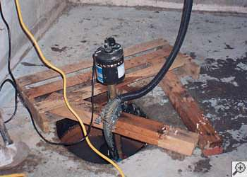 A Griffin sump pump system that failed and lead to a basement flood.