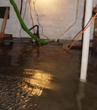 Several feet of floodwaters in a Bloomingdale basement