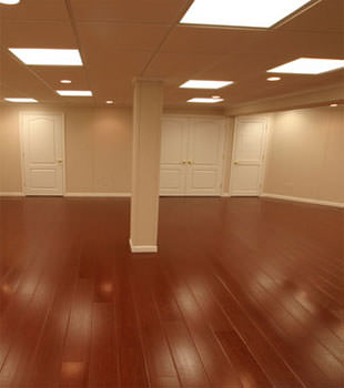 Rosewood faux wood basement flooring for finished basements in Savannah